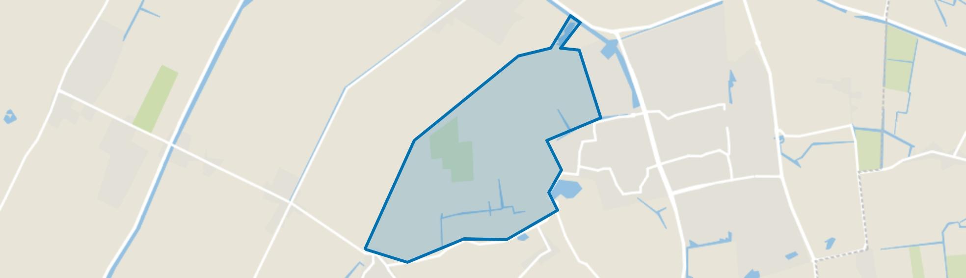 Burghorn en Buitengebied, Schagen map