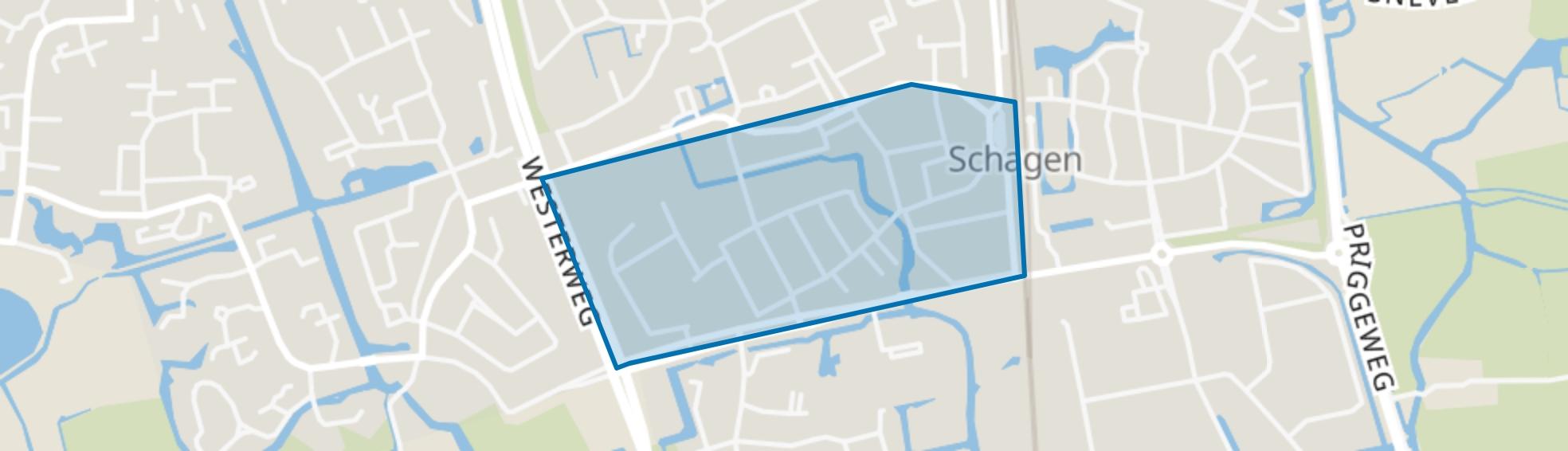 Schagen-Centrum-Zuid, Schagen map