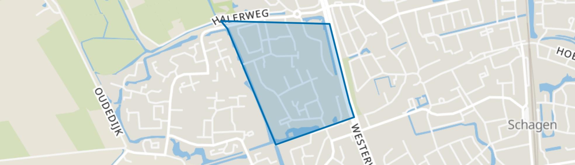 Waldervaart-Noordoost, Schagen map