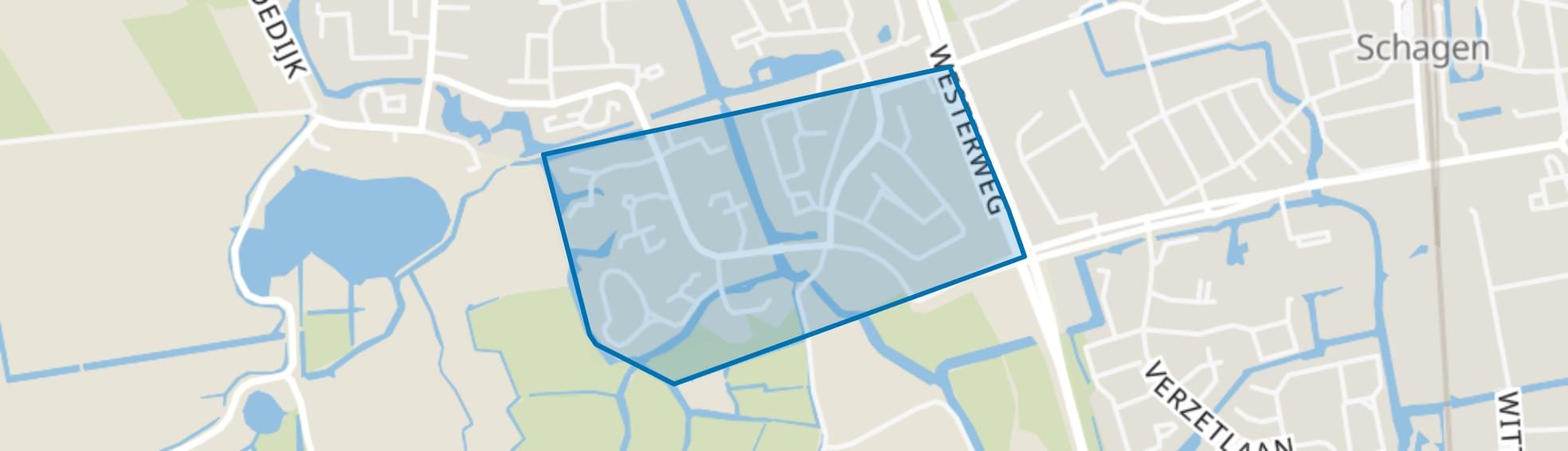 Waldervaart-Zuid, Schagen map