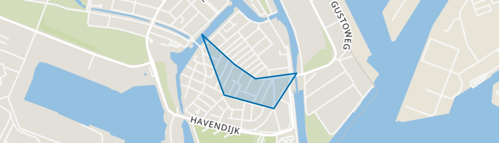 Eilandenbuurt, Schiedam map