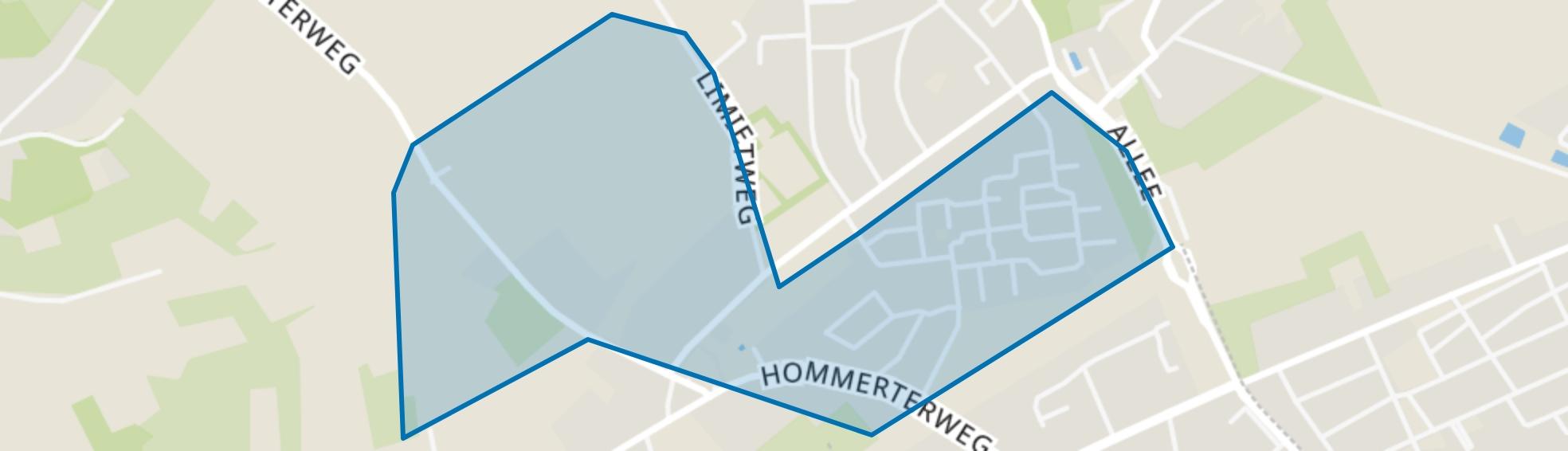Hommert (gedeeltelijk), Schinnen map