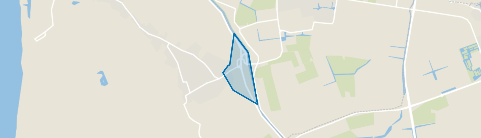 Schoorldam (gedeeltelijk), Schoorl map