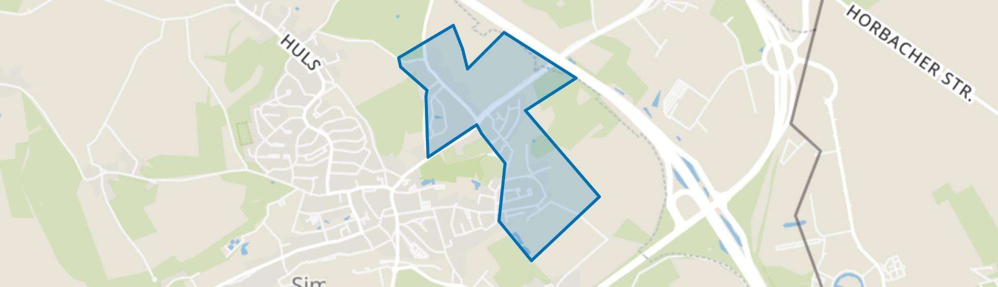 Molsberg-Rodeput, Simpelveld map