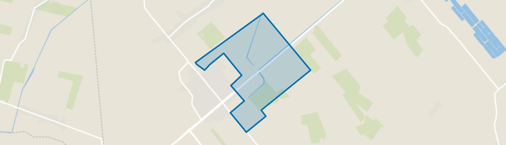 Verspreide huizen Slagharen-Oost, Slagharen map