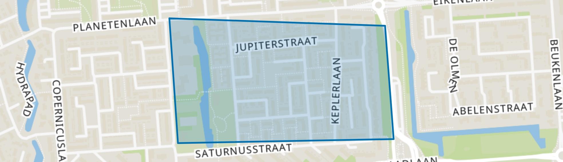 Sterrenkwartier-Oost, Spijkenisse map