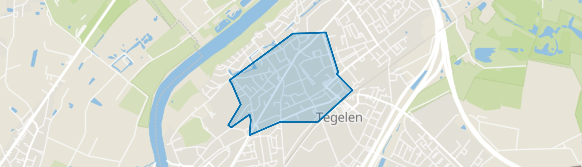 Tegelen-Centrum, Tegelen map