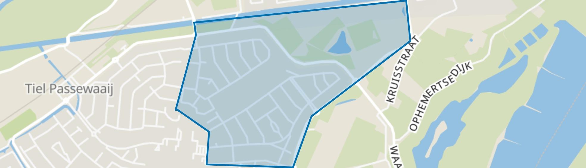 Passewaaij-Noord-Oost, Tiel map