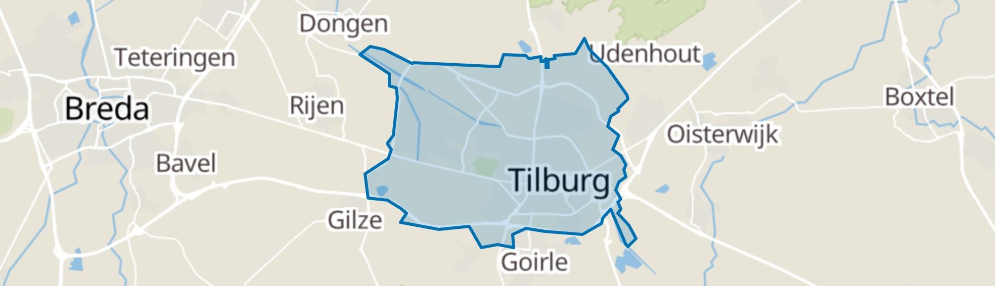 Tilburg map