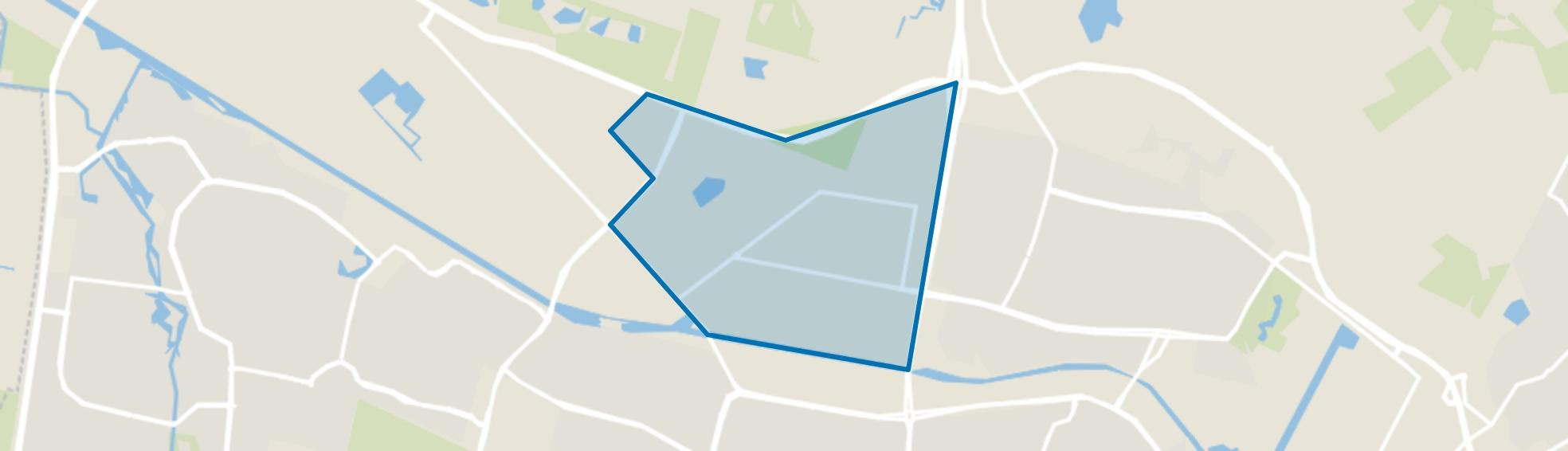 Bedrijventerrein Kraaiven, Tilburg map