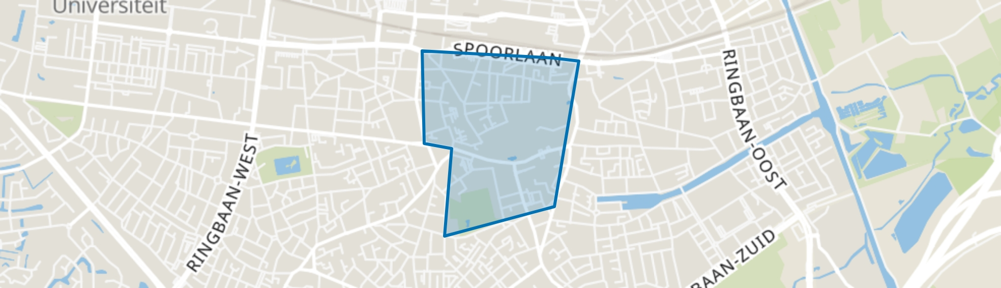 Binnenstad, Tilburg map