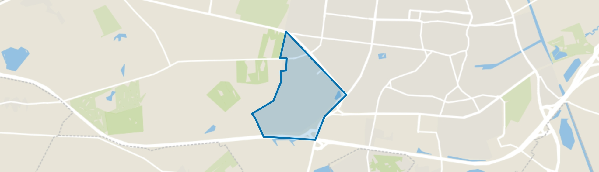 De Blaak, Tilburg map