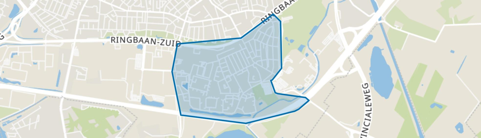 Groenewoud, Tilburg map