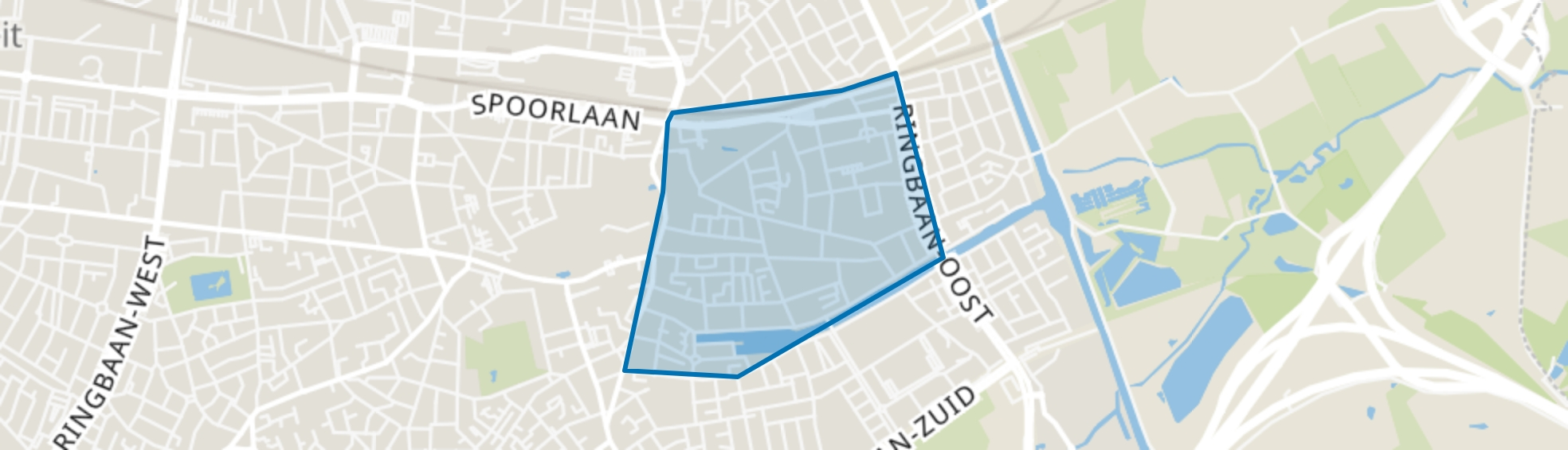 Hoogvenne, Tilburg map