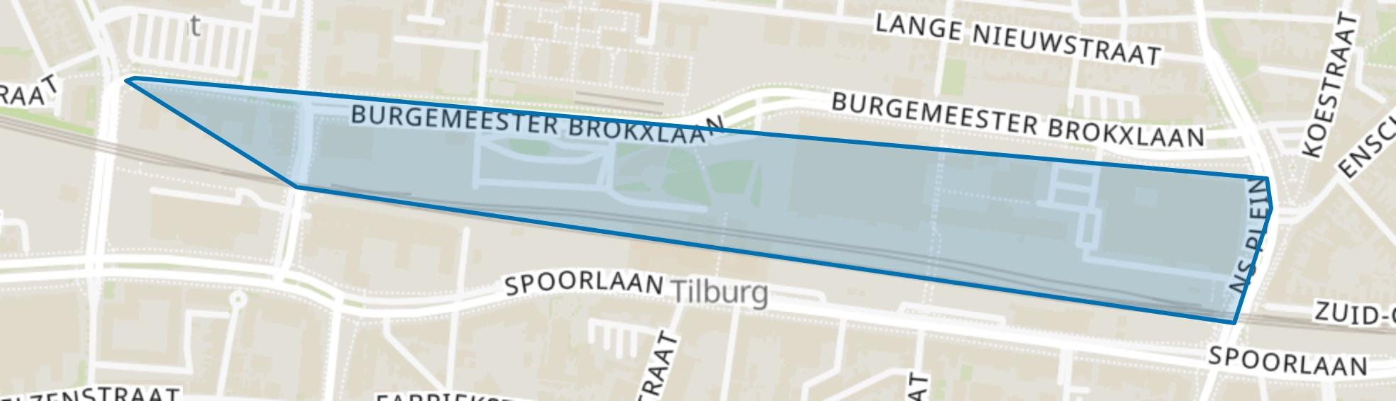 Spoorzone Noord, Tilburg map