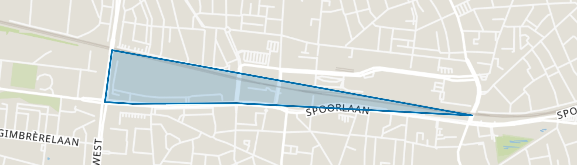 Spoorzone Zuid, Tilburg map