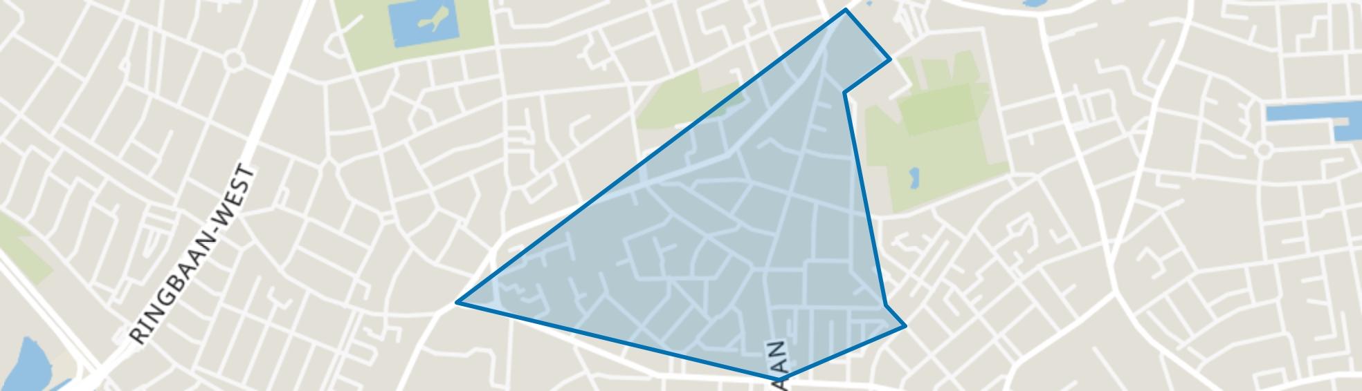 Trouwlaan - Uitvindersbuurt, Tilburg map