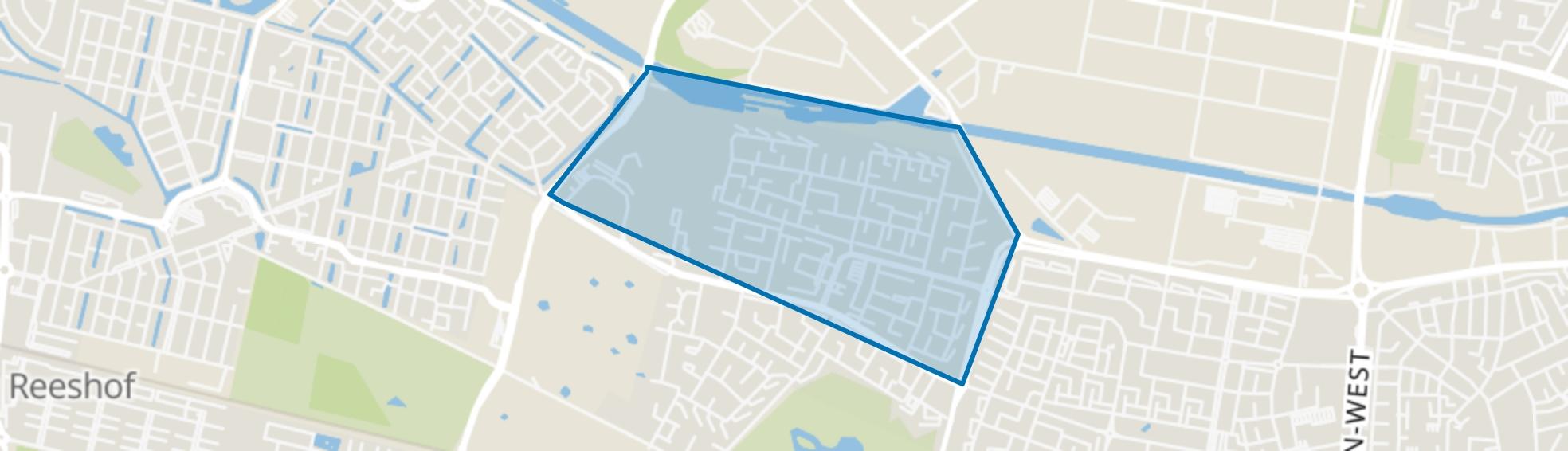 Wandelbos Noord, Tilburg map