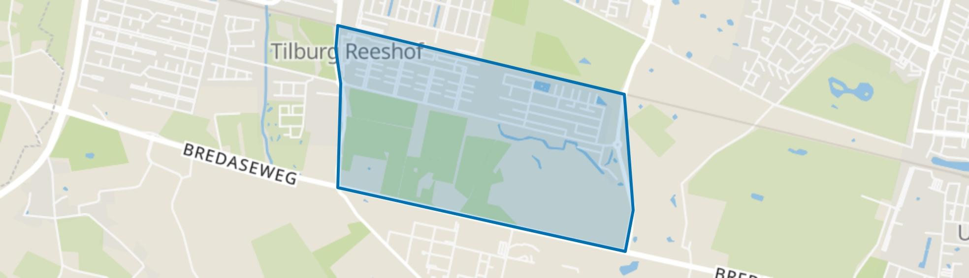 Witbrant, Tilburg map