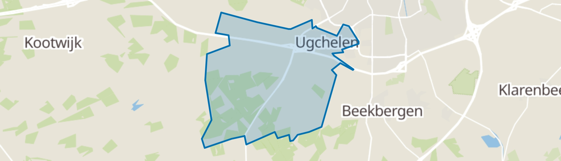 Ugchelen map