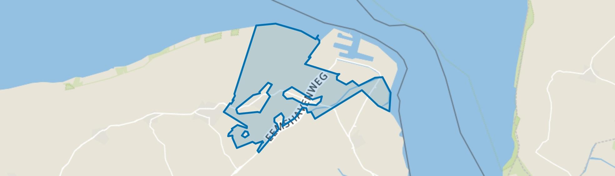 Verspreide huizen Uithuizermeeden, Uithuizermeeden map