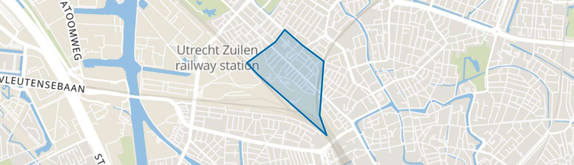 2e Daalsebuurt en omgeving, Utrecht map