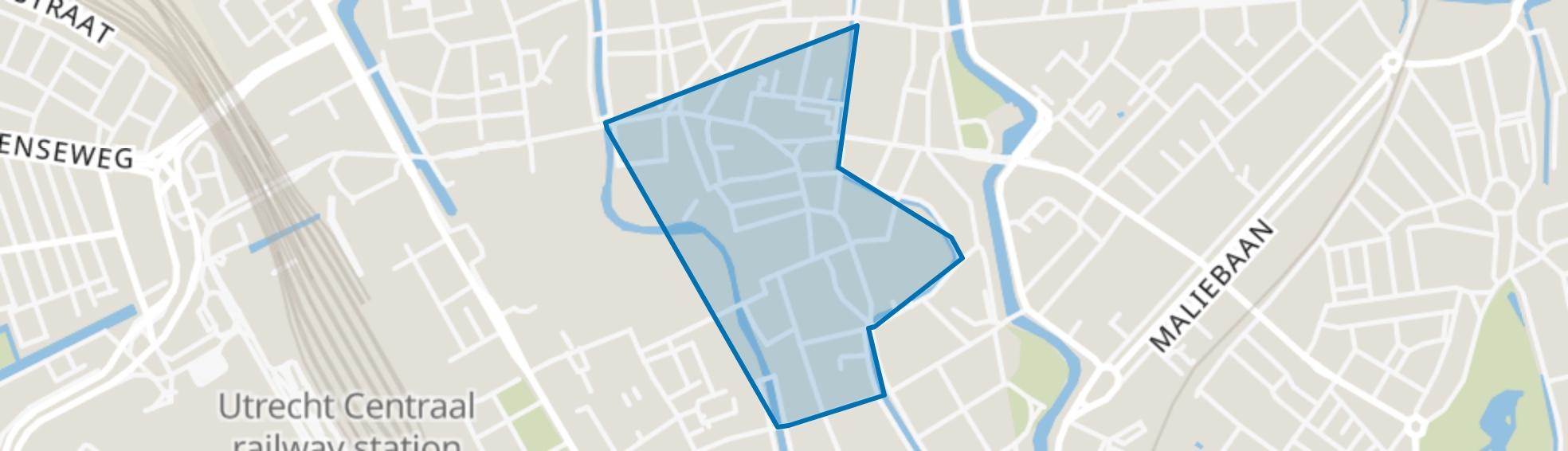 Domplein, Neude, Janskerkhof, Utrecht map