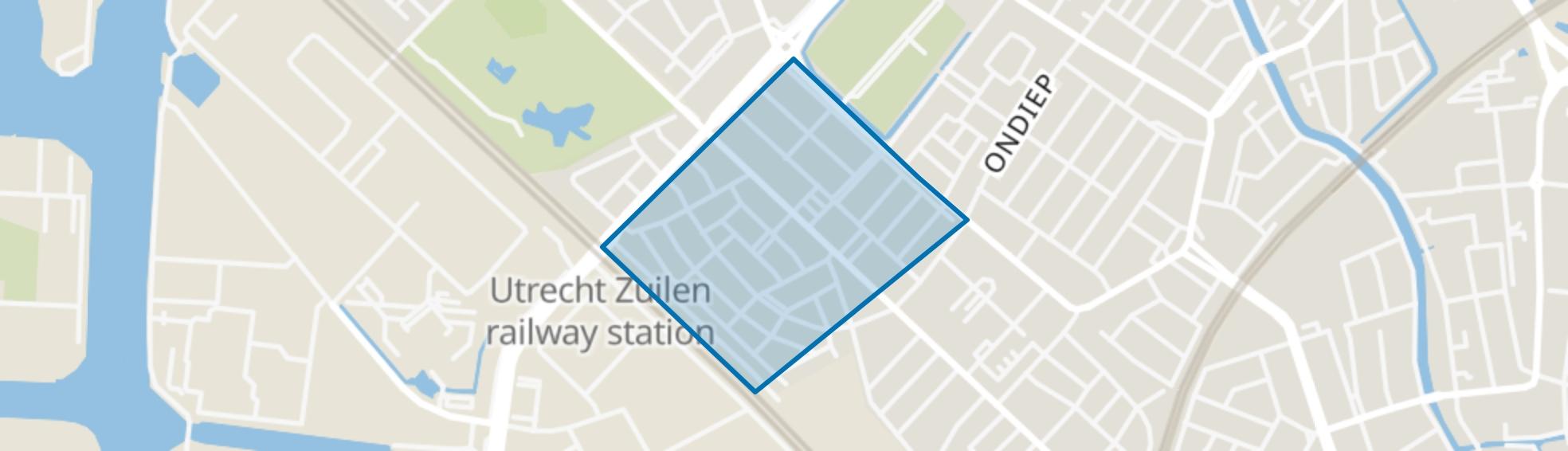 Egelantierstraat, Mariëndaalstraat e.o., Utrecht map