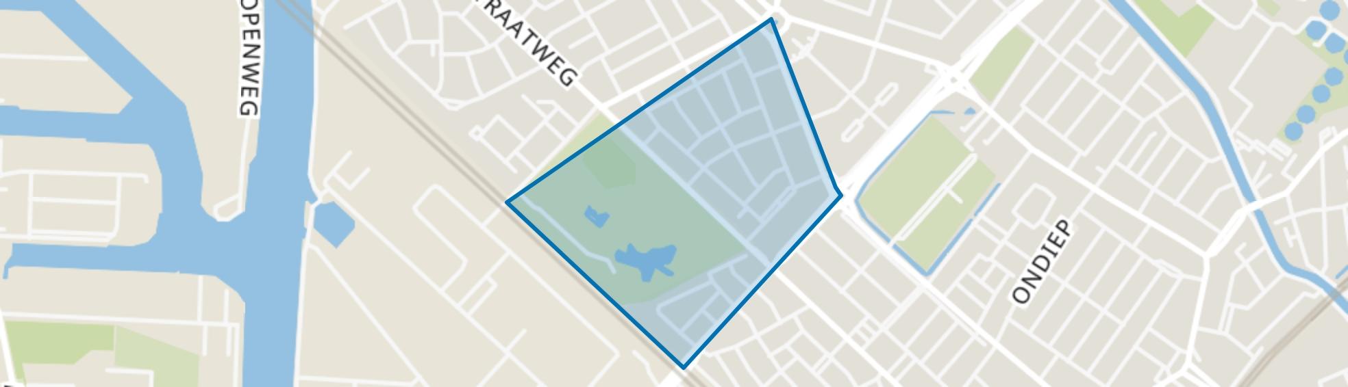 Julianapark en omgeving, Utrecht map