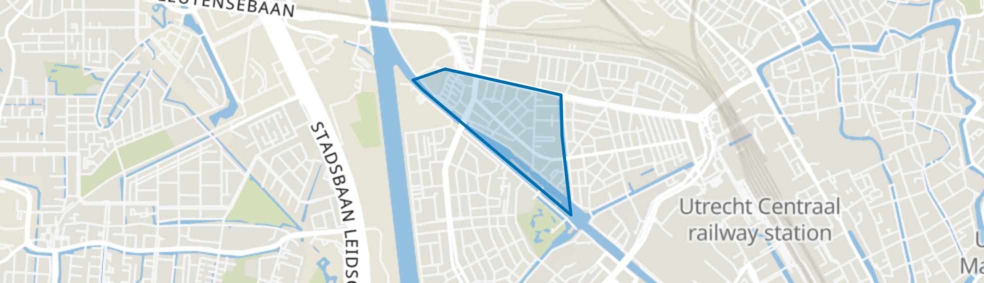 Laan van Nieuw-Guinea, Spinozaweg e.o., Utrecht map