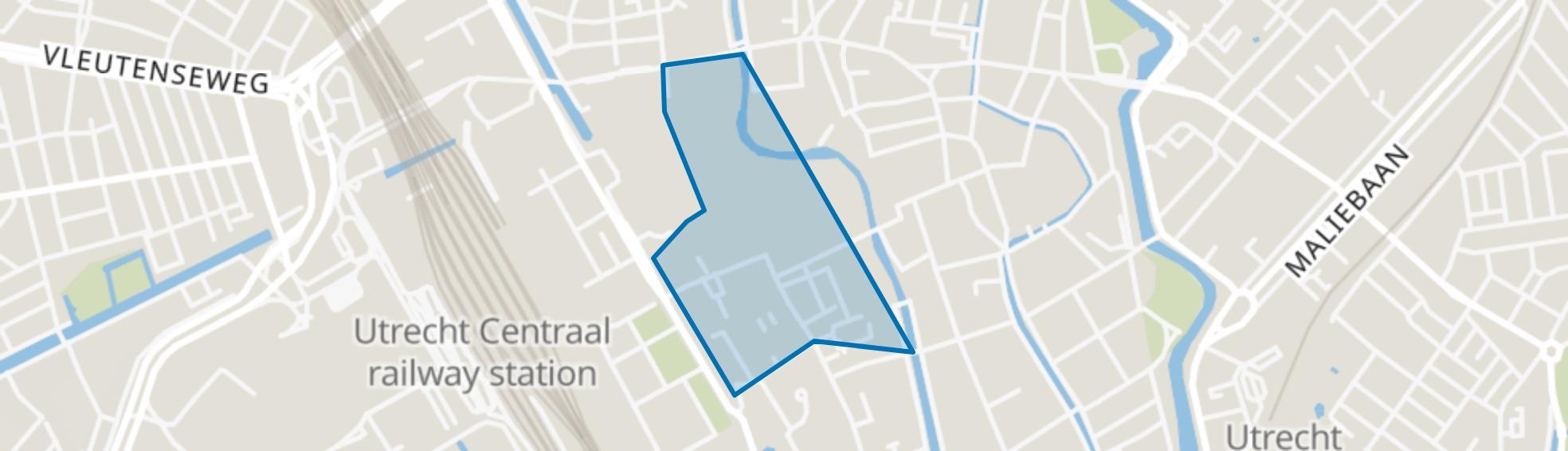Lange Elisabethstraat, Mariaplaats en omgeving, Utrecht map