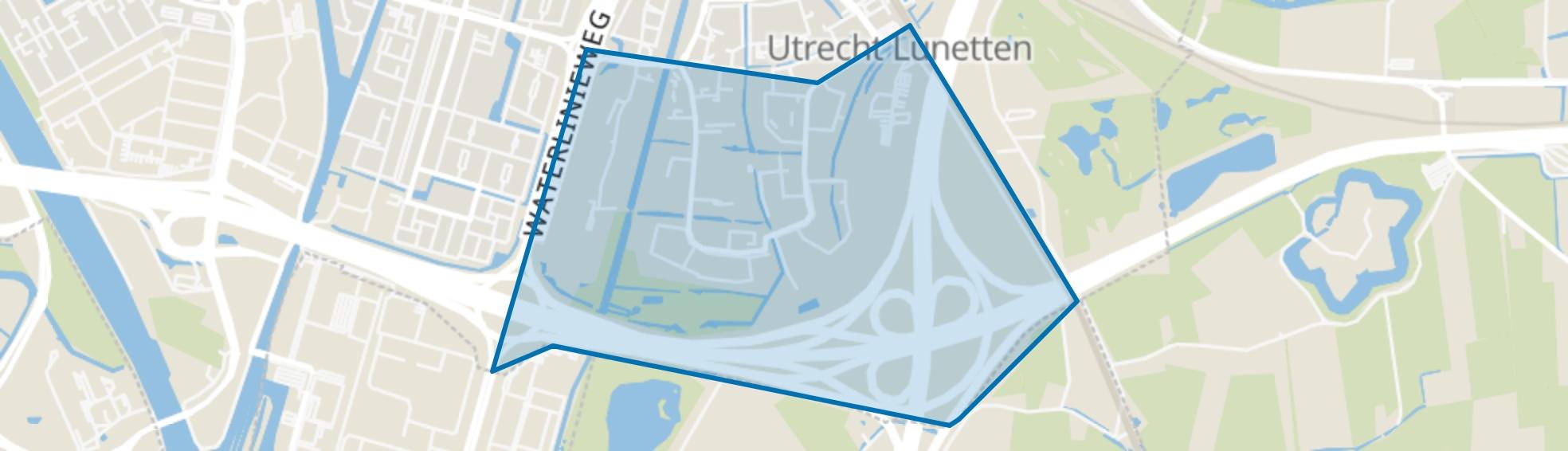 Lunetten-Zuid, Utrecht map