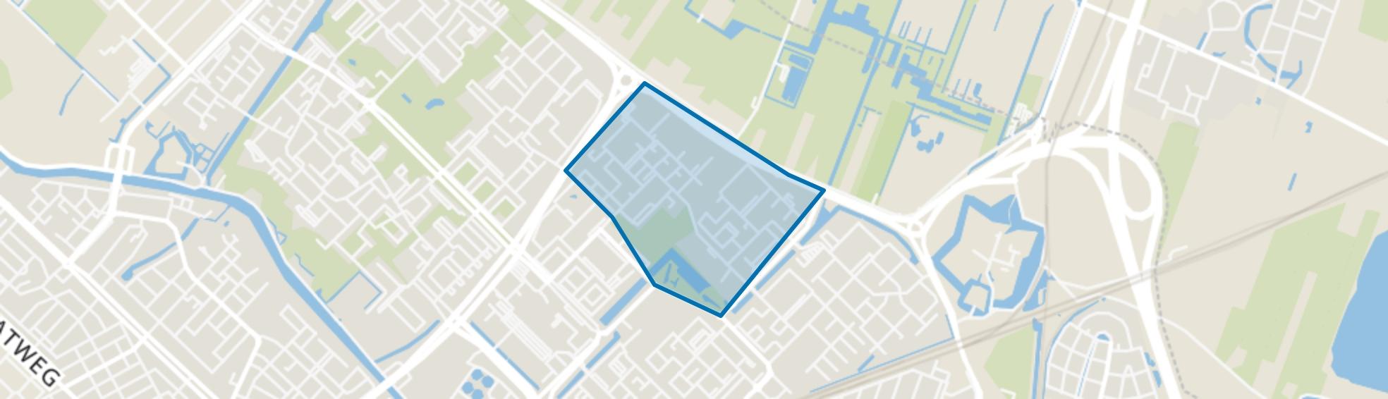 Neckardreef en omgeving, Utrecht map