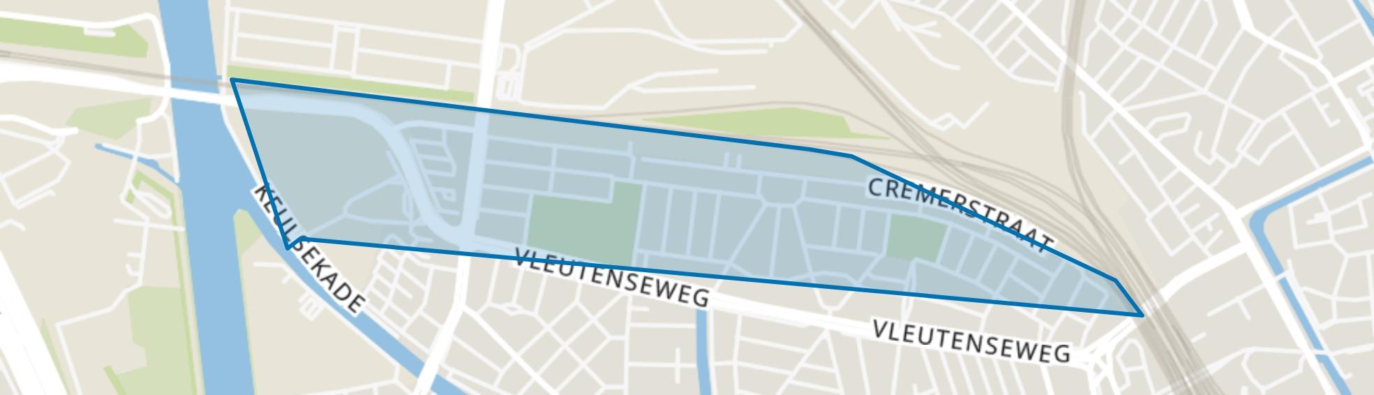 Nieuw Engeland, Th. a. Kempisplantsoen en omgeving, Utrecht map