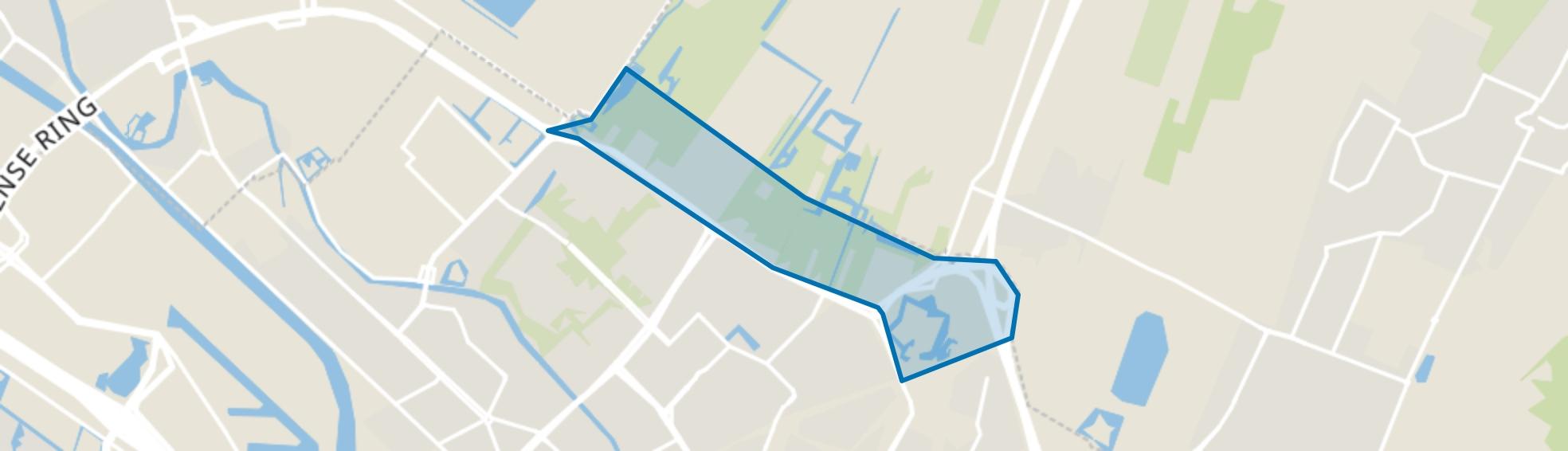 Poldergebied Overvecht, Utrecht map