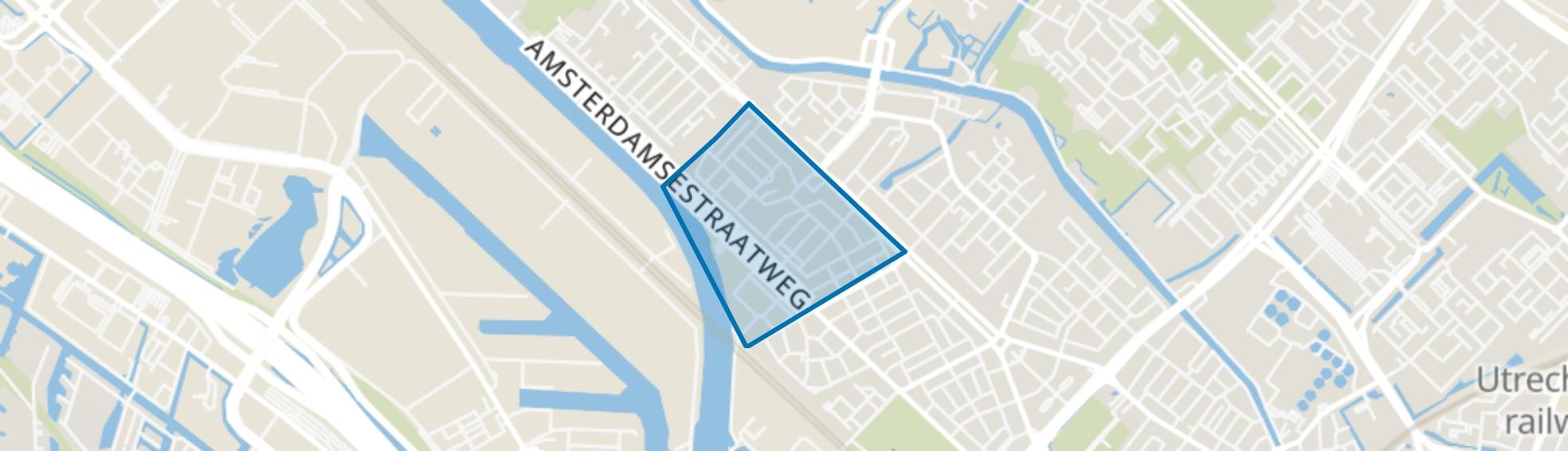 Prins Bernhardplein en omgeving, Utrecht map