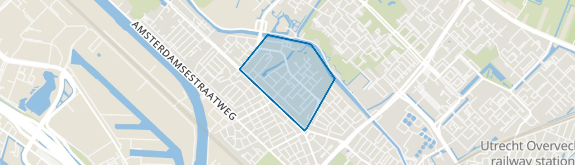 Schaakbuurt en omgeving, Utrecht map