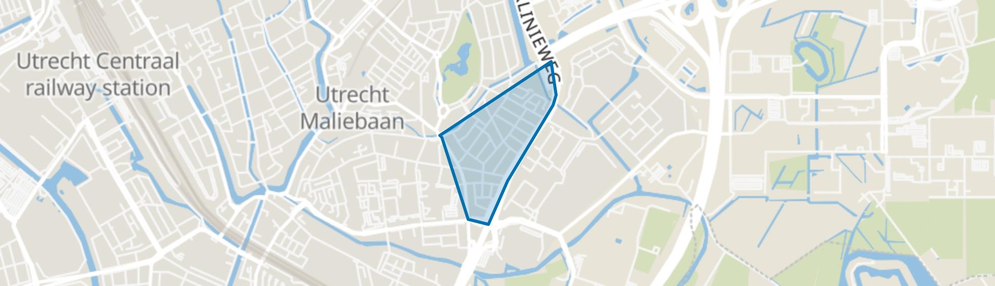Schildersbuurt, Utrecht map
