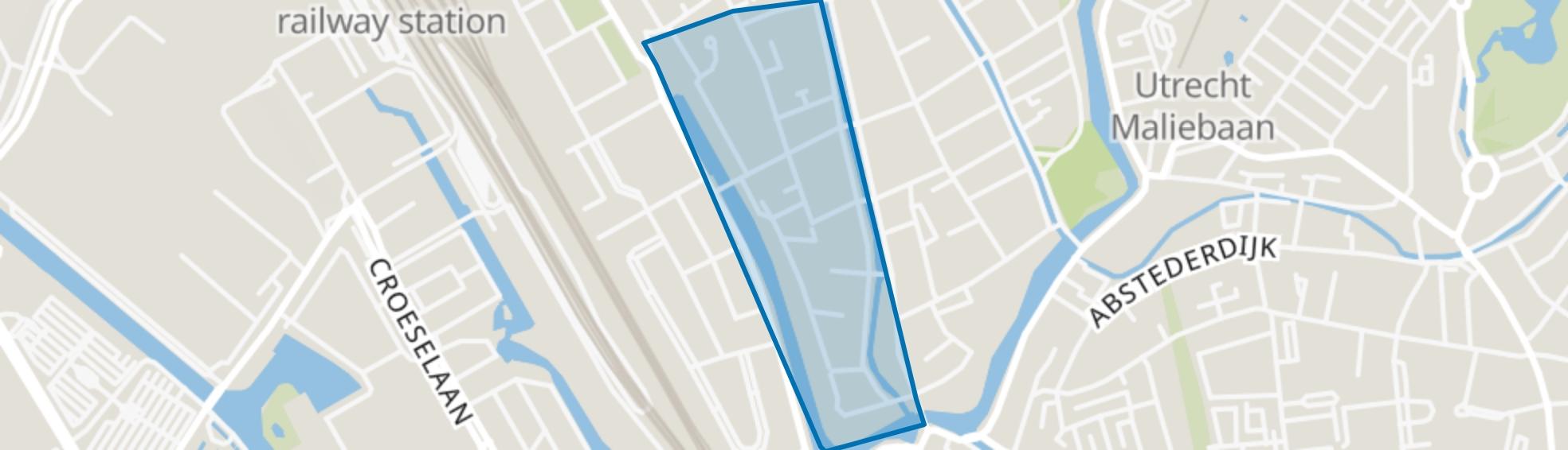 Springweg en omgeving Geertebuurt, Utrecht map