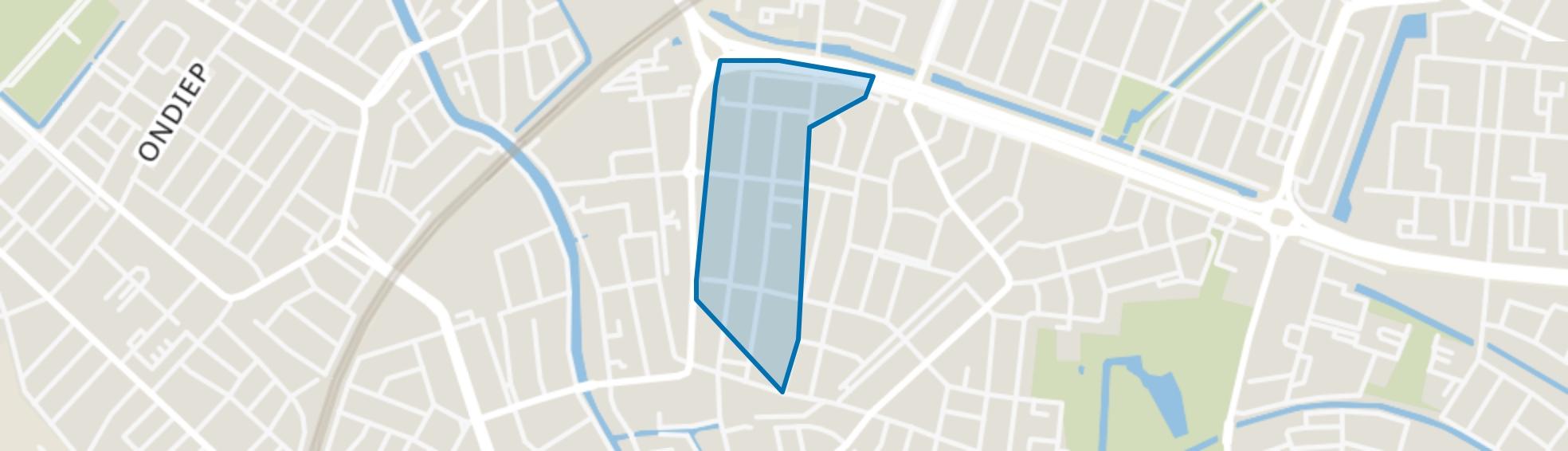Staatsliedenbuurt, Utrecht map