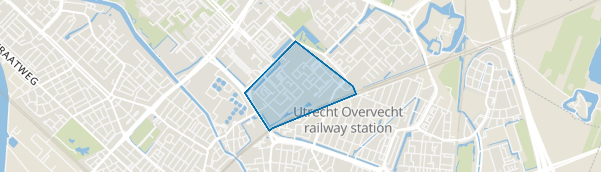 Taag- en Rubicondreef en omgeving, Utrecht map