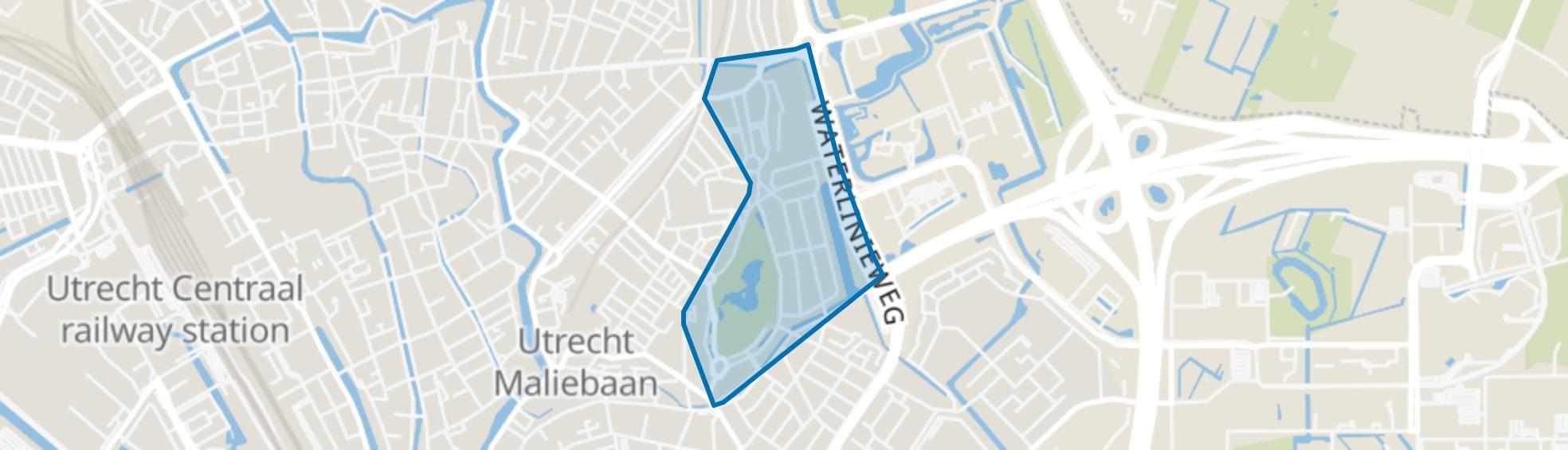 Wilhelminapark en omgeving, Utrecht map