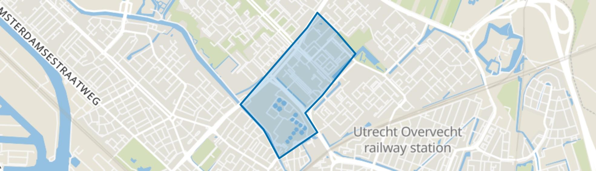 Zamenhofdreef en omgeving, Utrecht map