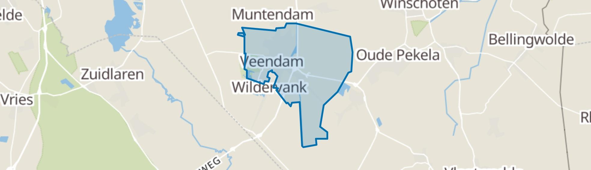 Veendam map