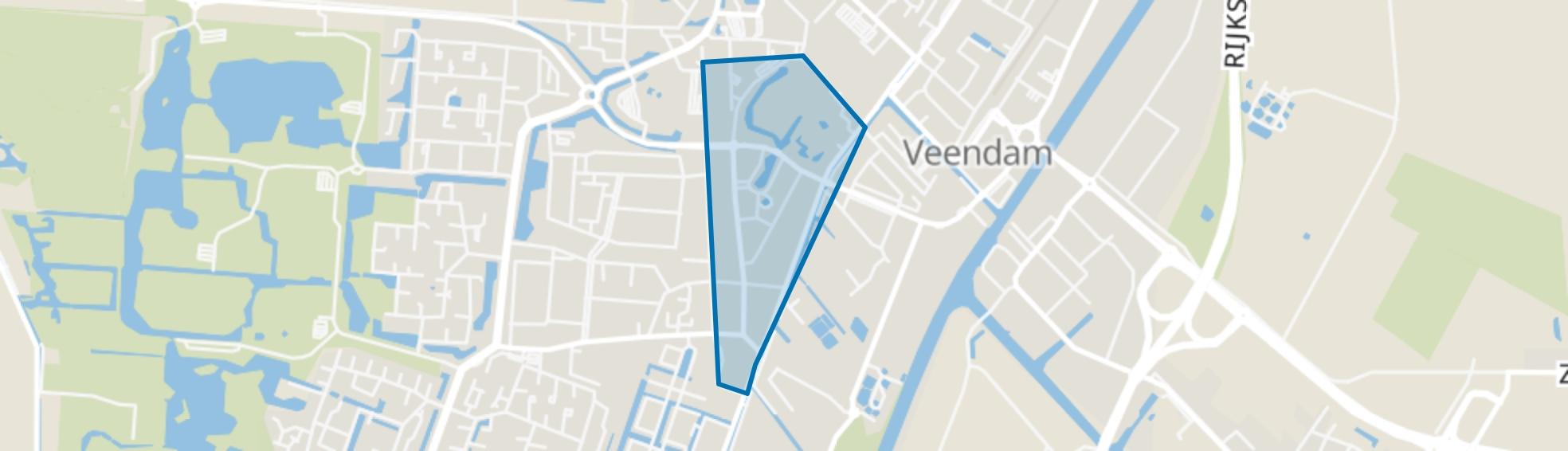 Veendam-Zuid, Veendam map