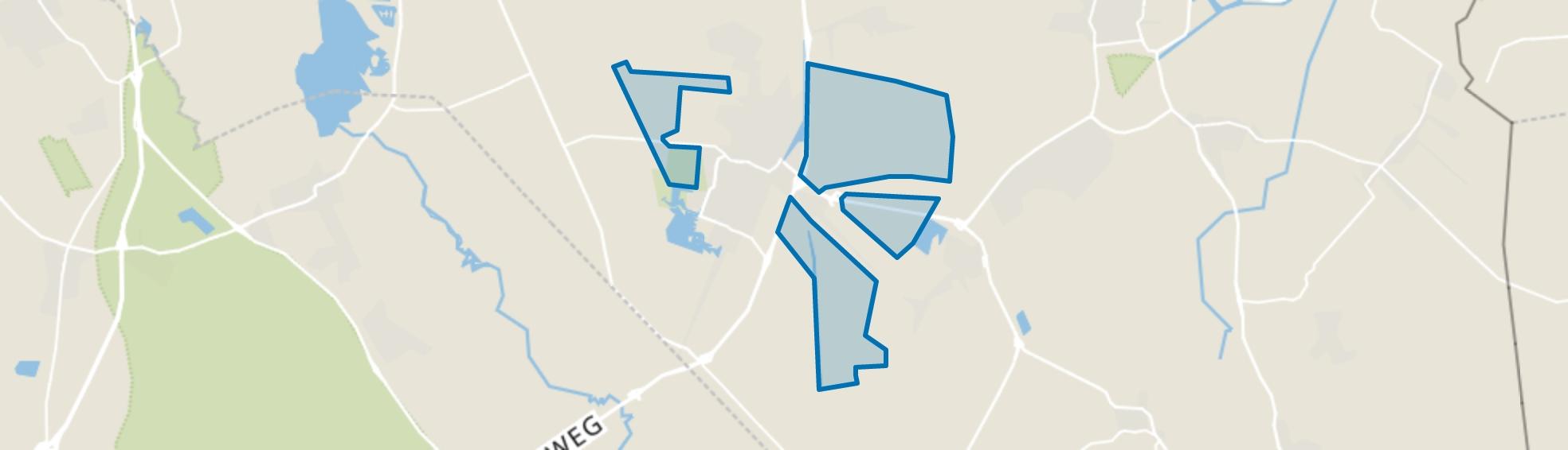 Verspreide huizen, Veendam map