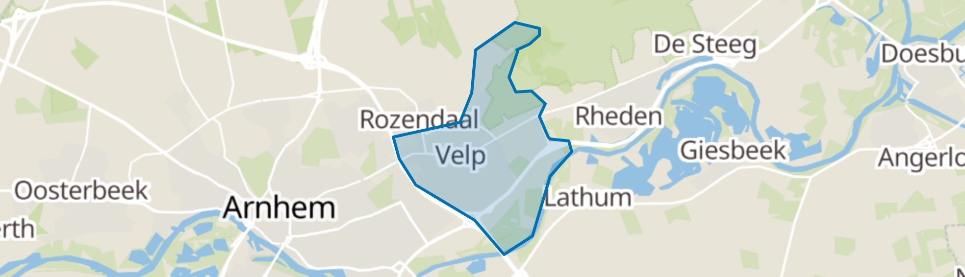 Velp (GE) map