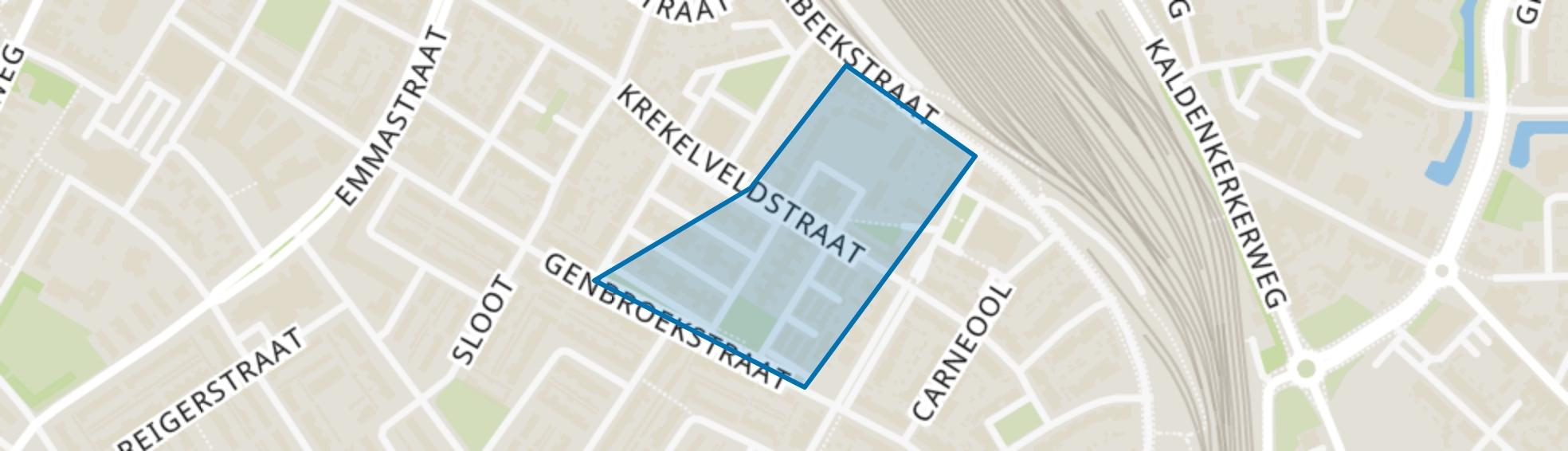 Krekelveld, Venlo map