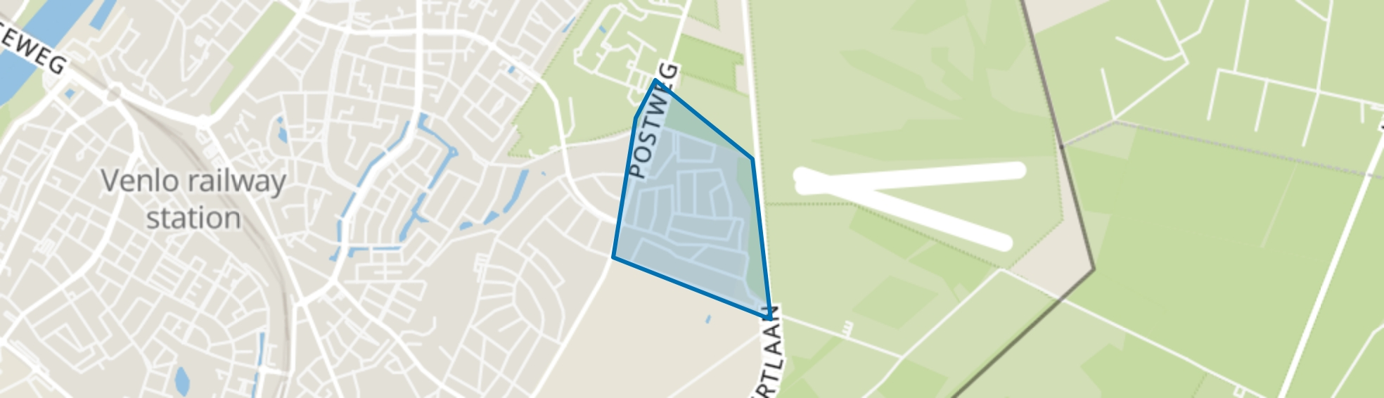 Stalberg-oost, Venlo map