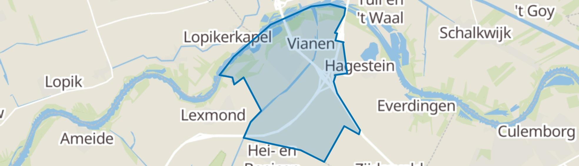 Vianen (UT) map